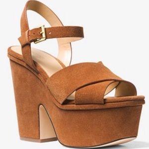 Michael Kors Divia suede platform sandal